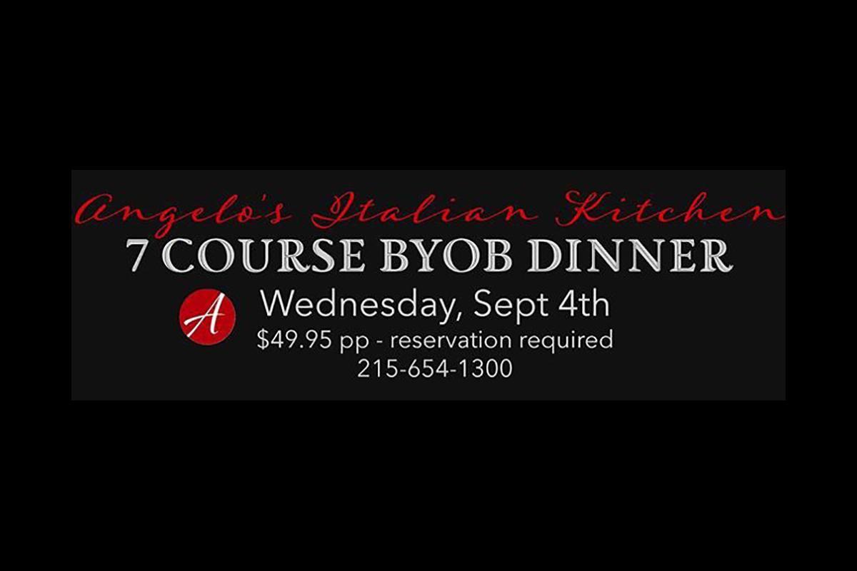 7 Course BYOB Dinner Sept 4th