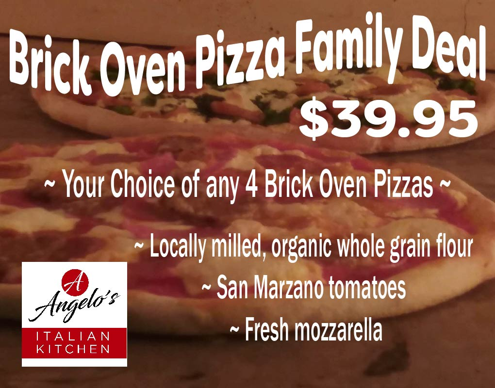 Brick Oven Pizza Family Deal